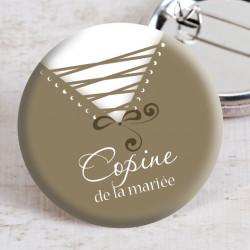 Badge mariage corsage