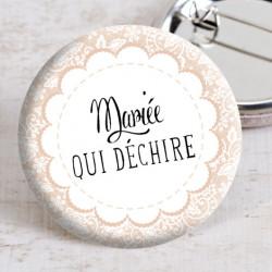 Badge mariage dentelle