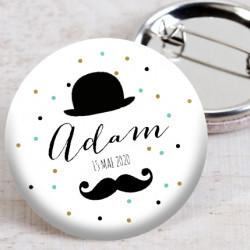 Badge Monsieur moustache