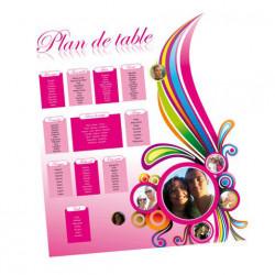 Plan de table color