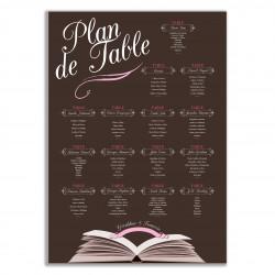 Plan de table pour les amoureux de la littérature