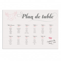 Plan de table colombes