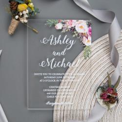 Faire-part mariage en acrylique plexiglas ACR01
