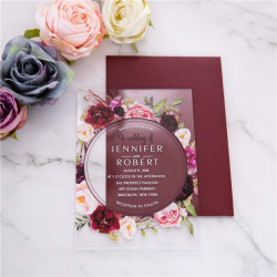 Faire-part mariage en acrylique plexiglas ACR07