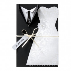 Faire-part de mariage habits de mariage