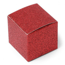 10 contenants à dragées rouge paillettes
