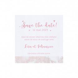 Save the date marbre romantique