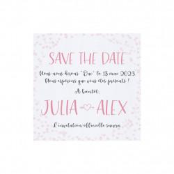 Save the date petits cœurs