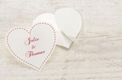 Stickers cœur blanc 59 mm