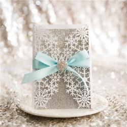 Faire-part mariage flocon de neige