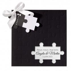 Faire-part de mariage pièce de puzzle 725073F