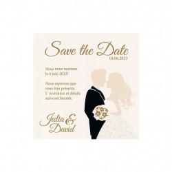 Save the date couple romantique