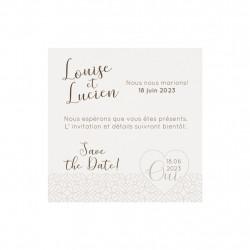 Save the date avec cœur élégant
