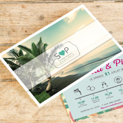 Faire-part de mariage carte postale