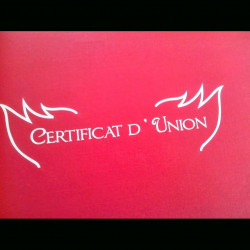 Certificat d'union bordeau