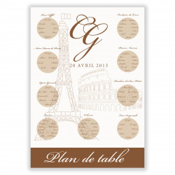 Plan de table Paris/Rome