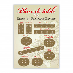 Plan de table orchidée