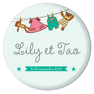 Badge Lily et Tao